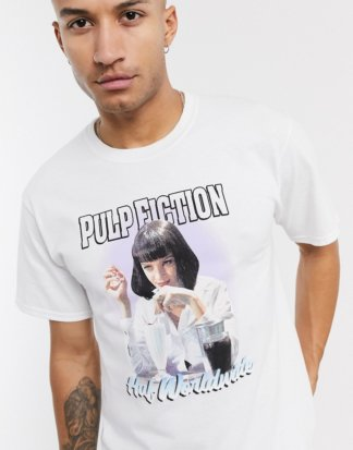 HUF x Pulp Fiction - Mia Airbrush - T-Shirt in Weiß