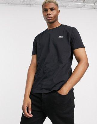 HUGO - Dero - Schwarzes T-Shirt mit kleinem Logo auf der Brust