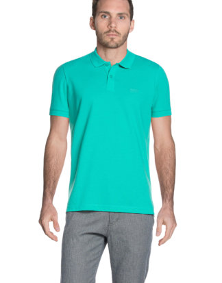 Hugo Boss Polo-Shirt, Kurzarm, Regular Fit türkis