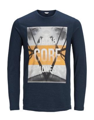 JACK & JONES Lässiges T-shirt Mit Langen Ärmeln Herren Blau