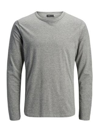 JACK & JONES Langarm-basic- T-shirt Mit Langen Ärmeln Herren Grau