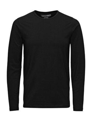 JACK & JONES Langarm-basic- T-shirt Mit Langen Ärmeln Herren Schwarz