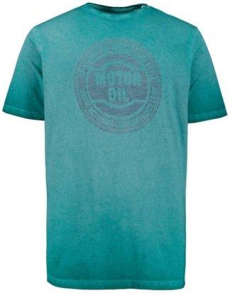 JP1880 T-Shirt bis 7XL, oil dyed T-Shirt, verwaschener MOTOR OIL Druck, Rundhalsausschnitt, Halbarm