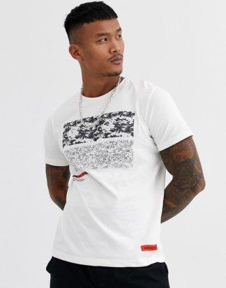 Jack & Jones - Core - T-Shirt mit Grafiklogo in gebrochenem Weiß