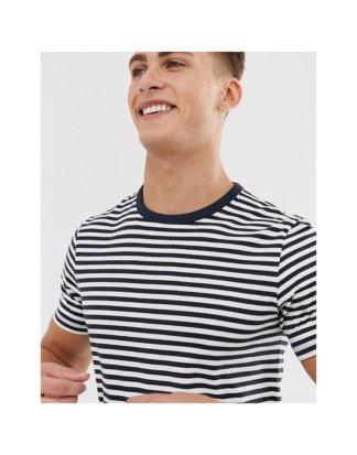 Jack & Jones - Hochwertiges T-Shirt in Marine gestreift-Navy