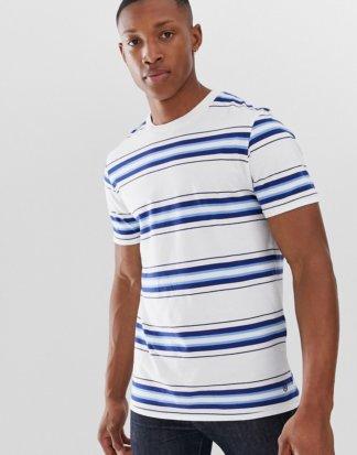 Jack & Jones - Hochwertiges, gestreiftes T-Shirt-Weiß