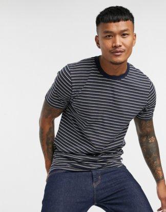 Jack & Jones - Originals - Gestreiftes T-Shirt aus Bio-Baumwolle in Marine-Navy