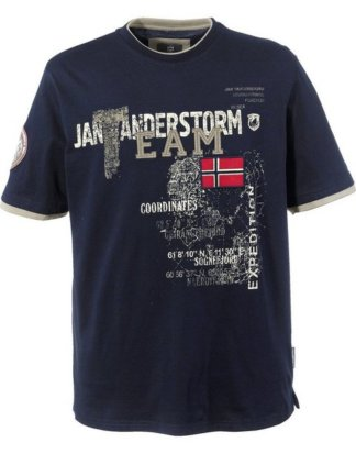 "Jan Vanderstorm T-Shirt ""SÖLVE"" in Doppellagen-Optik"