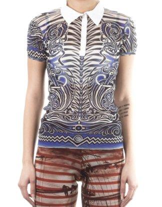 Jean Paul Gaultier Soleil Damen Polo- Shirt ELECTICO multicolour