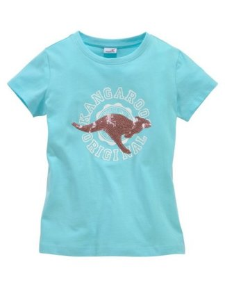 KangaROOS T-Shirt mit Paillettenapplikation