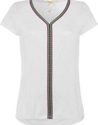 "Key Largo T-Shirt ""Ibiza"" mit applizierter Borte im Ethno-Look"