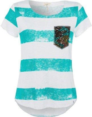 """Key Largo T-Shirt """"Jada"""" mit Pailletten und metallisiertem Garn"""