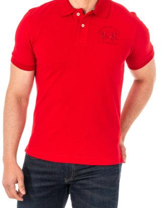 LA Martina Polo-Shirt, Kurzarm rot