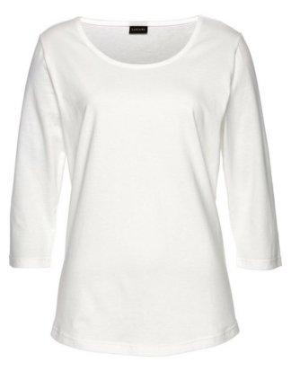 LASCANA 3/4-Arm-Shirt mit Rundhalsausschnitt