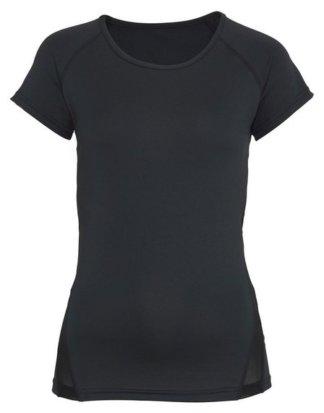 """LASCANA ACTIVE T-Shirt """"Black Marble"""" mit Mesh-Einsätzen"""