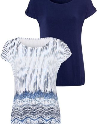 LASCANA T-Shirt (2er-Pack) mit aufwendiger Ärmelverarbeitung