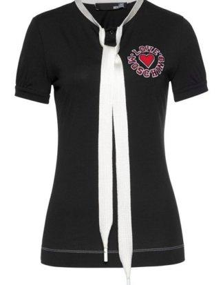 LOVE MOSCHINO T-Shirt mit einer einem Schuhband als Schleife