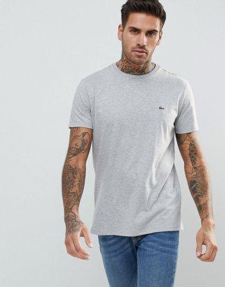 Lacoste - Graues T-Shirt mit Logo
