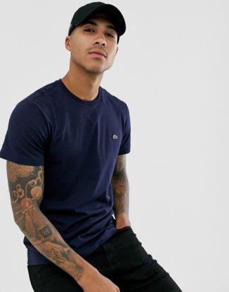 Lacoste - Marineblaues T-Shirt aus Pima-Baumwolle mit Logo-Navy