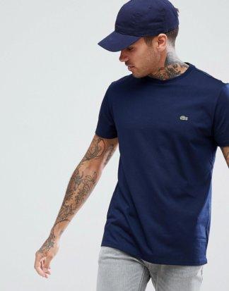 Lacoste - Marineblaues T-Shirt mit Logo-Navy