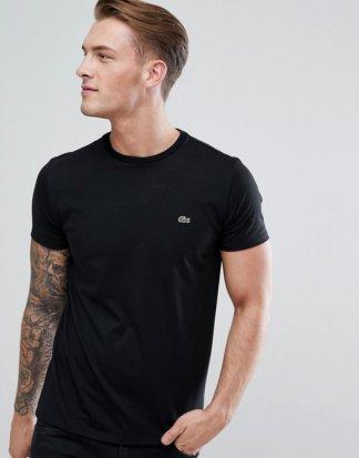 Lacoste - Schwarzes T-Shirt mit Logo