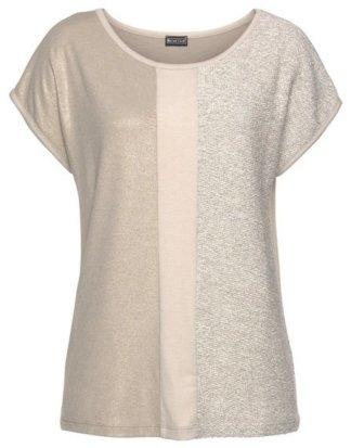 Laura Scott T-Shirt mit Glanzeffekten