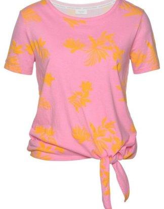 Marc O'Polo DENIM Print-Shirt mit allover Print aus Blättern