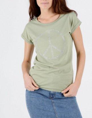 """Mavi T-Shirt """"PEACE SEQUIN TOP"""" T-Shirt mit Strass"""