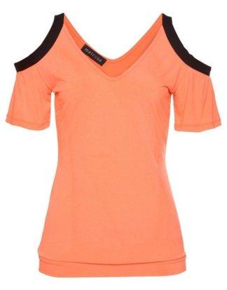 Melrose V-Shirt in knalliger Neonfarbe