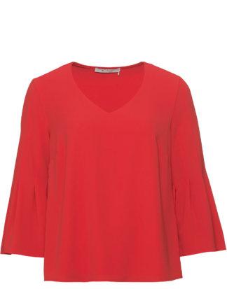 Monari Shirt, 3/4-Arm, V-Ausschnitt rot