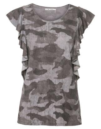 Monari Shirt, Kurzarm, Rundhals grau