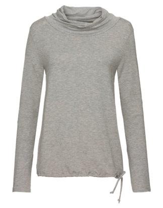 Monari Shirt, Langarm, Rollkragen grau
