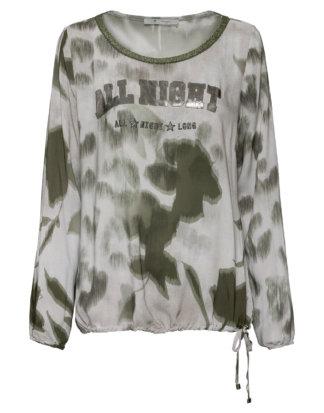 Monari Shirt, Langarm, Rundhals grün