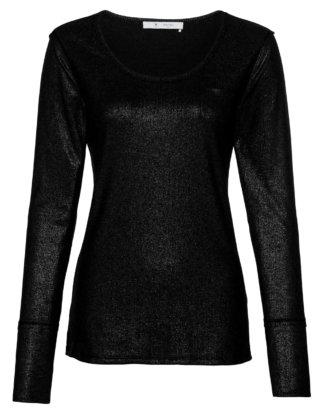 Monari Shirt, Langarm, Rundhals schwarz
