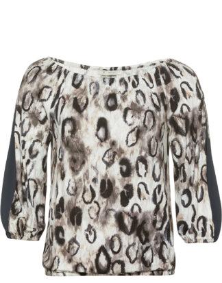 Monari Shirt Leodruck Allover bunt