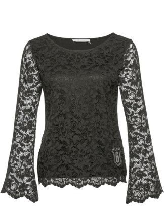 Monari Shirt Spitze schwarz