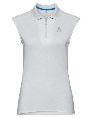 Odlo Polo-Shirt Kumano Dry, Ärmellos, Hemdblusenkragen weiß