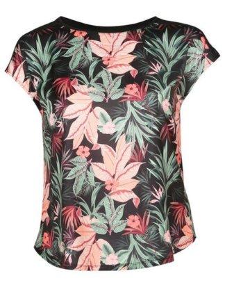 """Paprika Print-Shirt """"T-Shirt mit Satin-Effekt und Tropic-Print"""""""