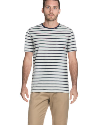 Polo Ralph Lauren T-Shirt Americana, Rundhals, Regular Fit weiß