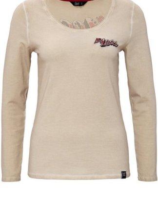 """QueenKerosin Print-Shirt """"La Loca"""" mit Backprint und Oilwash-Effekten"""