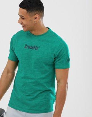 Reebok - Crossfit - Meliertes T-Shirt in Petrol-Navy