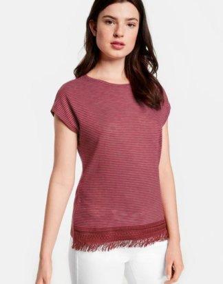Ringel-Shirt mit Fransen 44/L