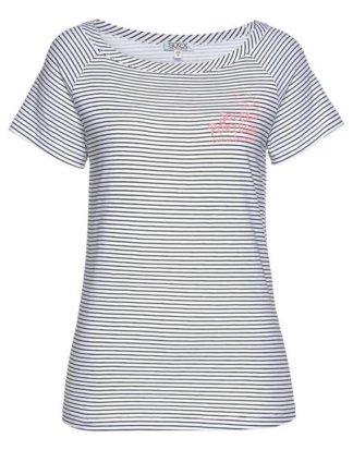 SOCCX T-Shirt mit femininem U-Boot-Ausschnitt