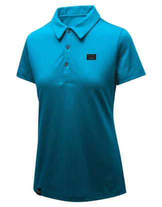 Salewa Polo-Shirt, Kurzarm blau