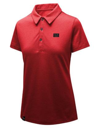 Salewa Polo-Shirt, Kurzarm rot