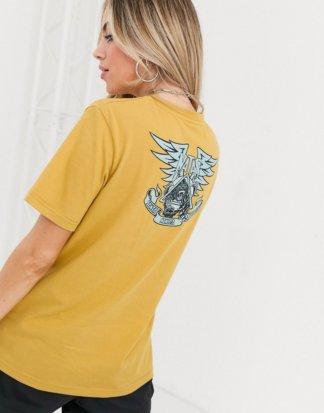 Santa Cruz - Natas - Einfarbiges T-Shirt in Senfgelb-Gold