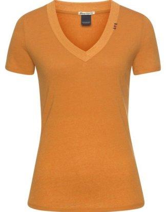 Scotch & Soda T-Shirt mit süßer Stickerei am V-Ausschnitt