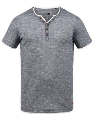"""Solid Rundhalsshirt """"Digos"""" T-Shirt mit Knopfleiste"""