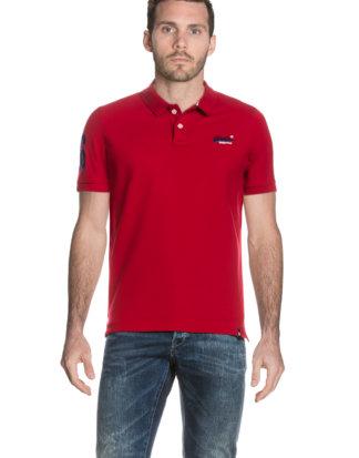 Superdry Polo-Shirt Classic Pique, gerader Schnitt rot