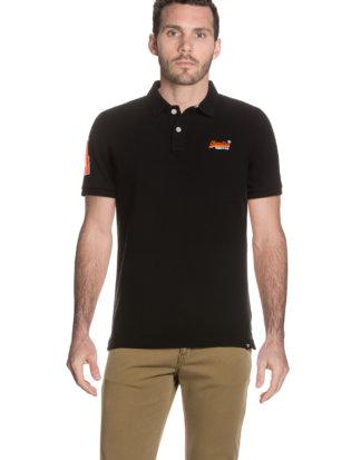 Superdry Polo-Shirt Classic Pique, gerader Schnitt schwarz